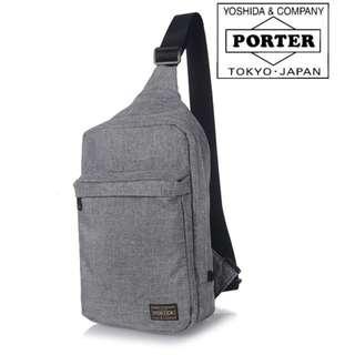 GREY Porter Yoshida Chest Bag Sling Pouch Shoulder Messenger p747g