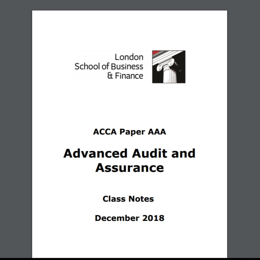 ACCA P7 AAA Textbook and Questions Book, Books & Stationery
