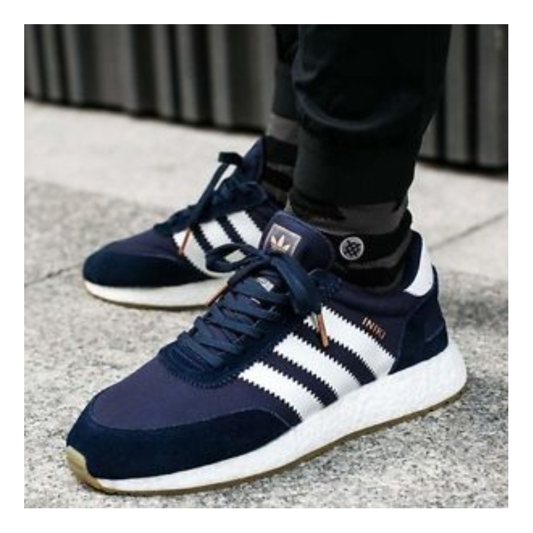premium selection 37c3a 0d753 Adidas Iniki Runner Boost (Navy), Men s Fashion, Footwear, Sneakers on  Carousell