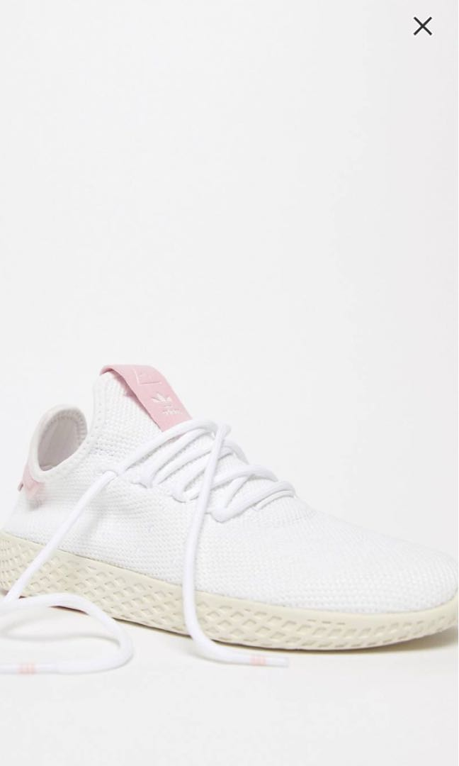 7f88d99cb adidas originals pharrell williams tennis hu trainers pink and white ...
