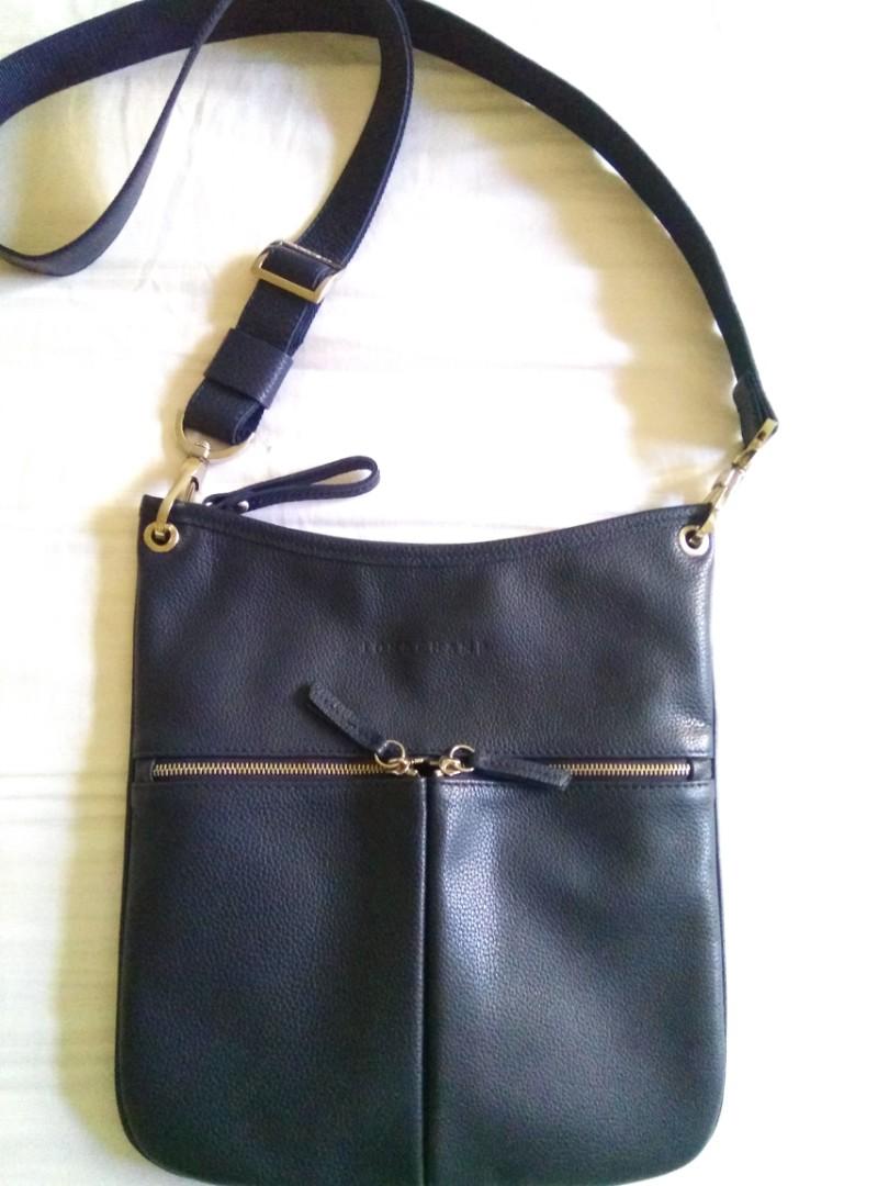 Authentic Longchamp Leather Sling Bag 0accfdb15cc86