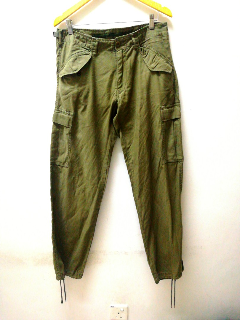 b65634bba8 BACK NUMBER Army Green Cargo Pants, Men's Fashion, Clothes, Bottoms ...