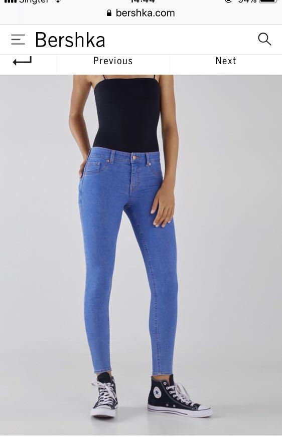 Bershka Denim Jeans Blue, Women s Fashion, Clothes, Pants, Jeans ... 7f30ee8478fb