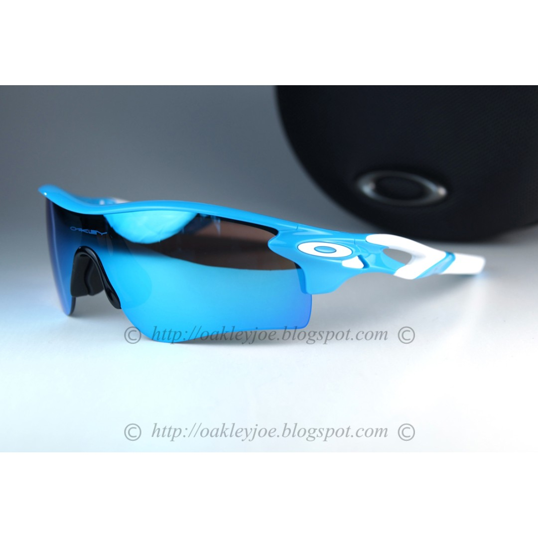 6af66a6d94 BNIB Oakley Radarlock Path Asian Fit Custom sky blue + sapphire iridium  sungalss shades