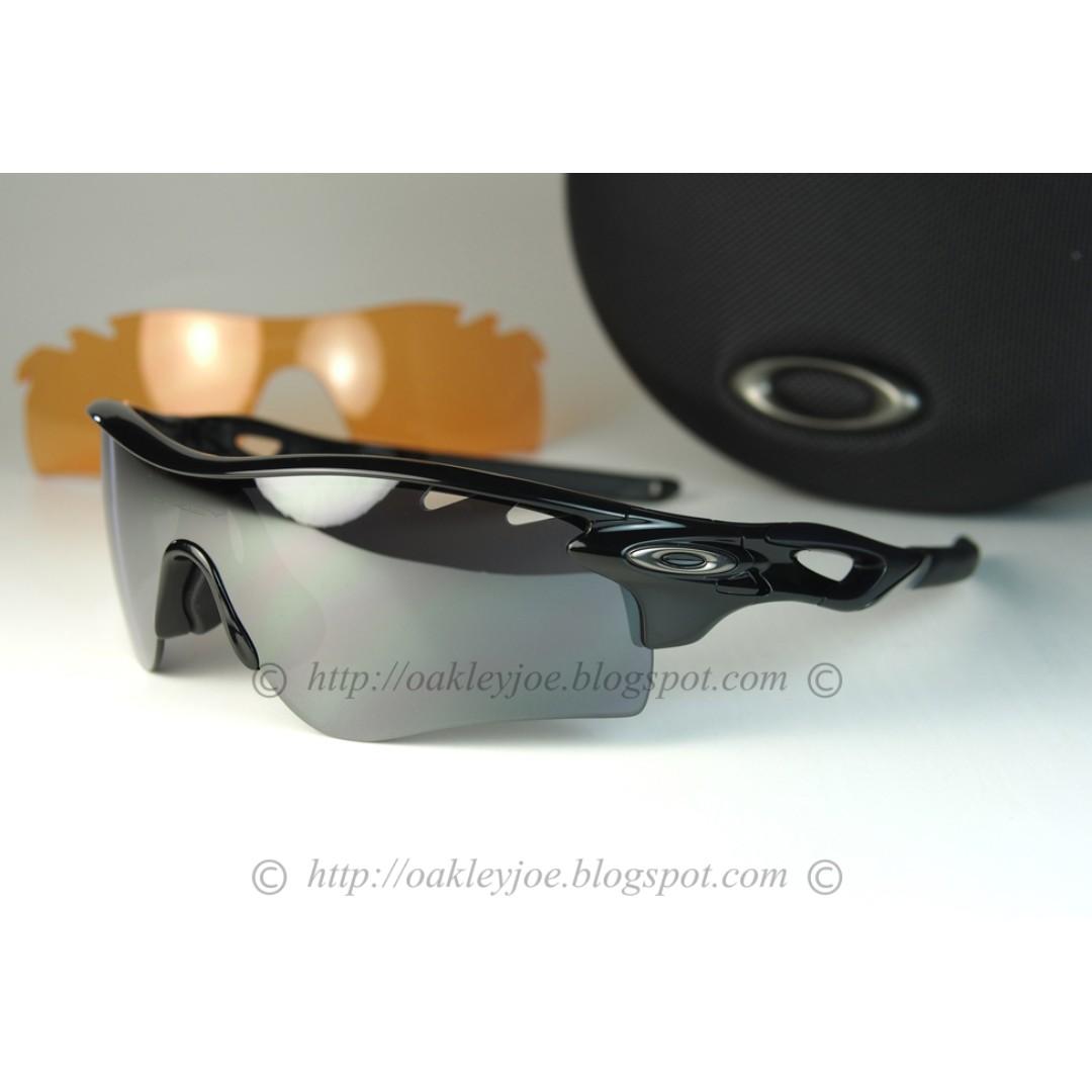 Oakley Radarlock Path >> Bnib Oakley Radarlock Path Custom Polished Black Black Iridium Vented Sunglass Shades