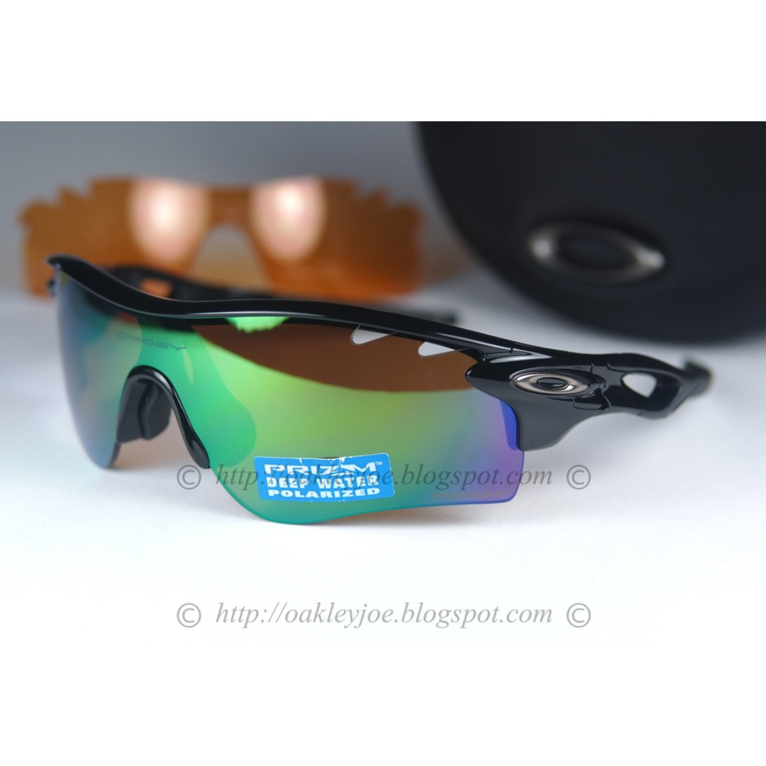 0cac2ad33fd BNIB Oakley Radarlock Path Custom polished black + shallow blue ...