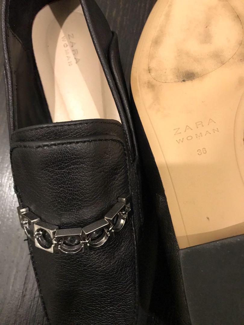 Black Zara loafers
