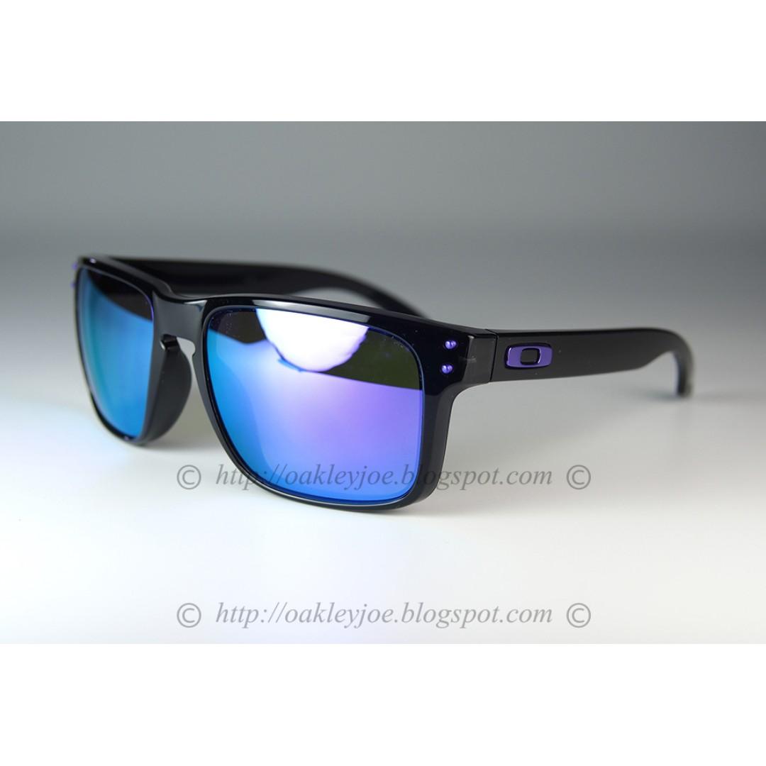 6e2bcd4283832 BNIB Oakley Holbrook Custom Holbrook black ink + violet iridium + purple  details sunglass shades