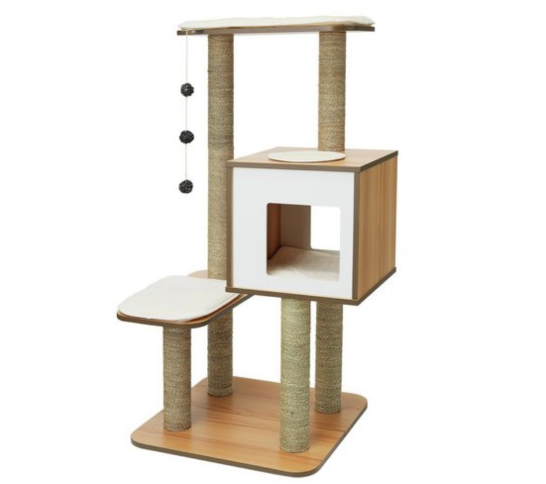 Cat Condo Vesper Cat Furniture V High Base Pet Supplies For Cats