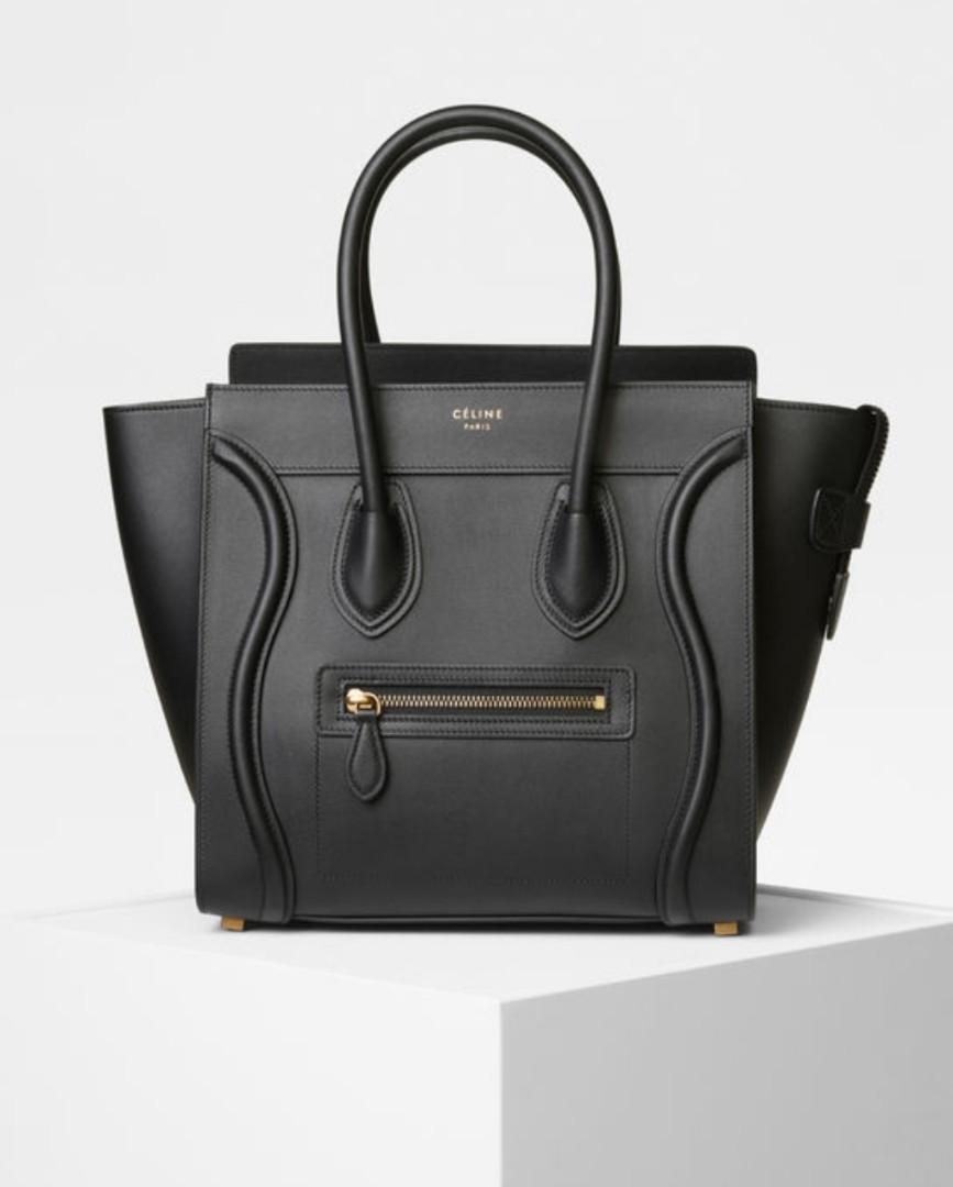 b2bdb83e99 Celine Micro Luggage Handbag in Smooth Calfskin