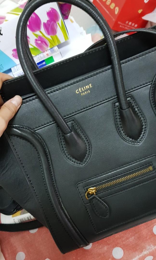 Celine Micro Luggage Handbag in Smooth Calfskin 96c7ae1b0d3a4