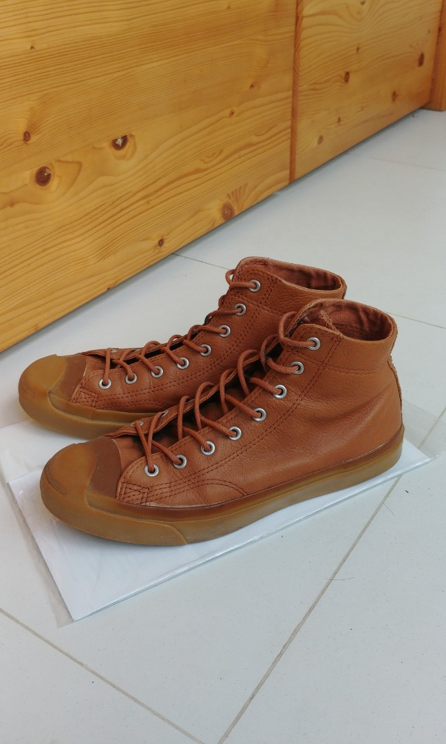 2741b56d6830e5 Converse Jack Purcell Mid Brown (Gum Sole)