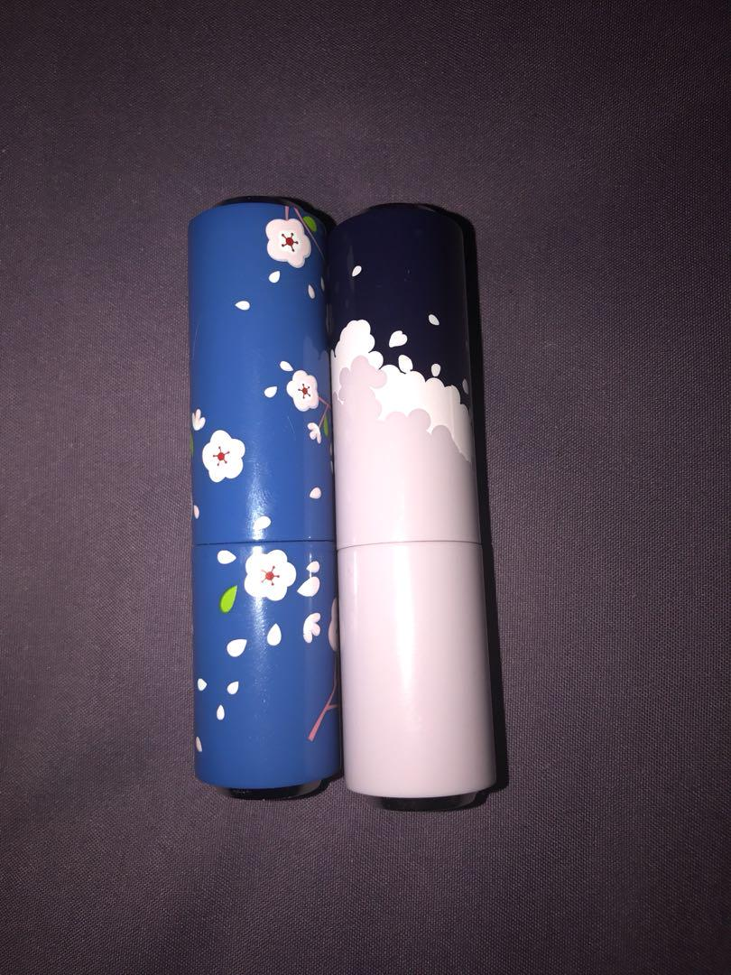 Etude house cherry blossom lipsticks