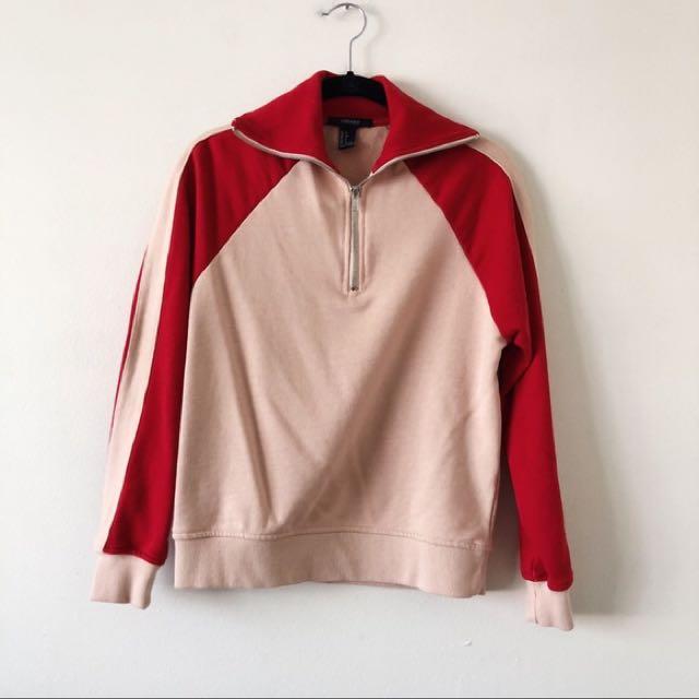 Half zip up sweater