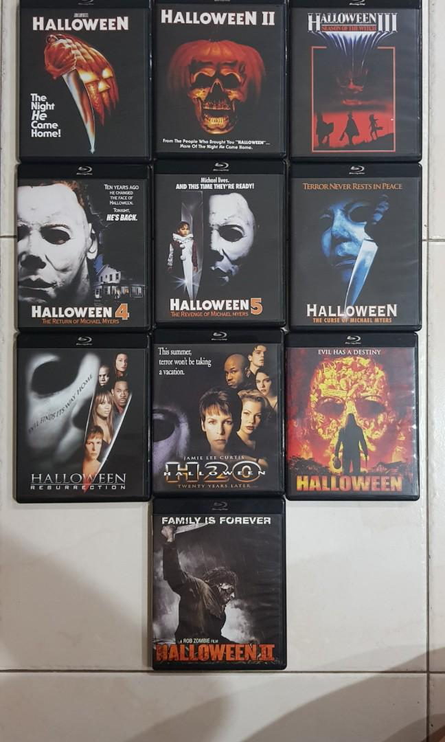 Halloween 5 Blu Ray.Halloween Complete Collection 10 Blu Ray Set Music Media Cds