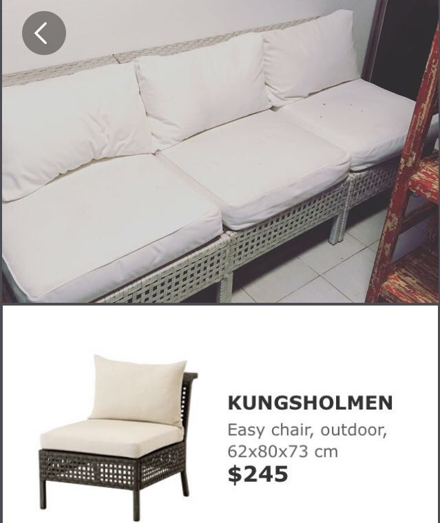 Ikea Kungsholmen Outdoor Sofa Furniture Tables Chairs On Carousell