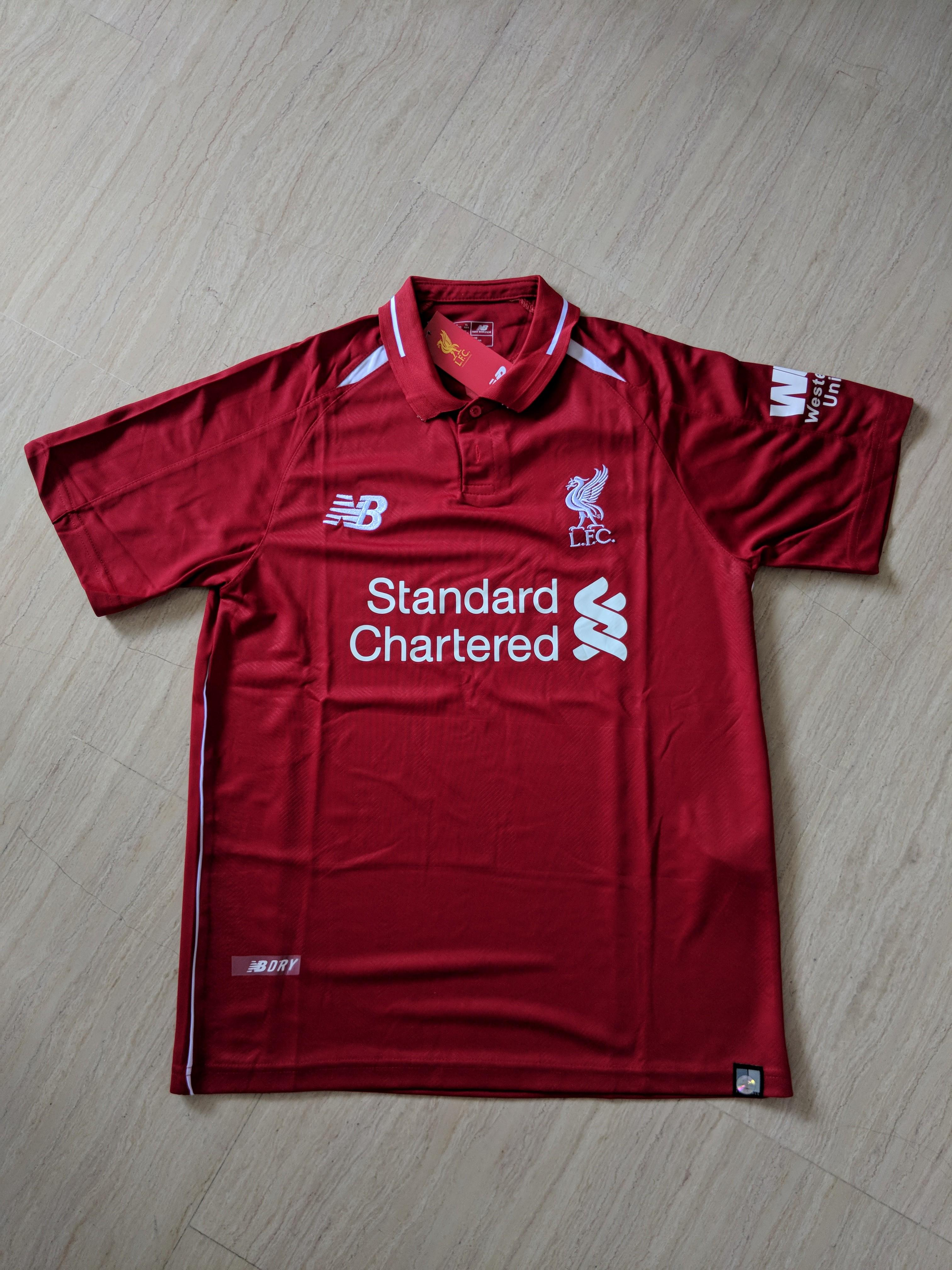 low priced 63d27 18949 INSTOCK) Liverpool 1819 jersey, Sports, Sports Apparel on ...