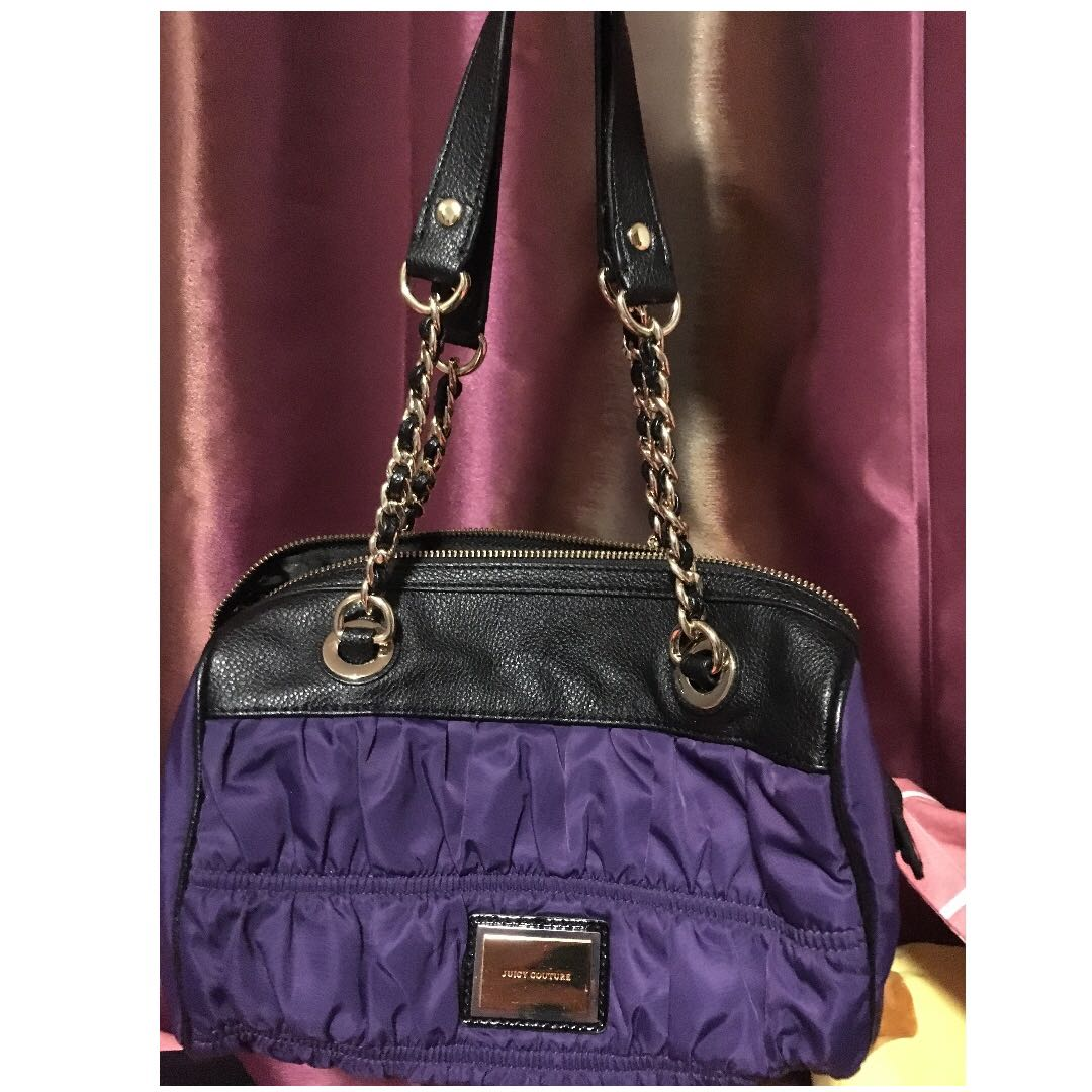 Juicy Couture Dark Purple with Gold Chains Handbag 34a4a17cbb