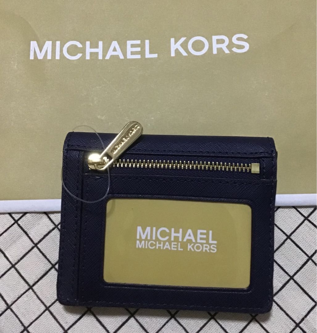 best service 211dd fada2 Michael Kors Jet Travel Credit Card Case ID Wallet with Key Ring