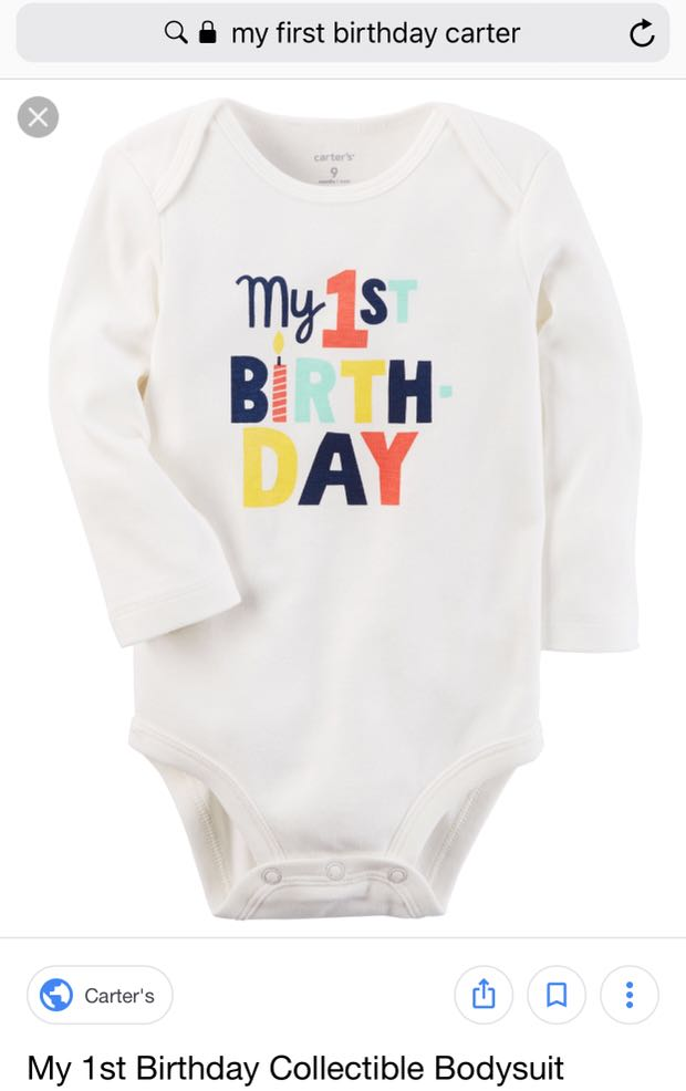 My First Birthday Carter Romper Babies Kids Apparel On