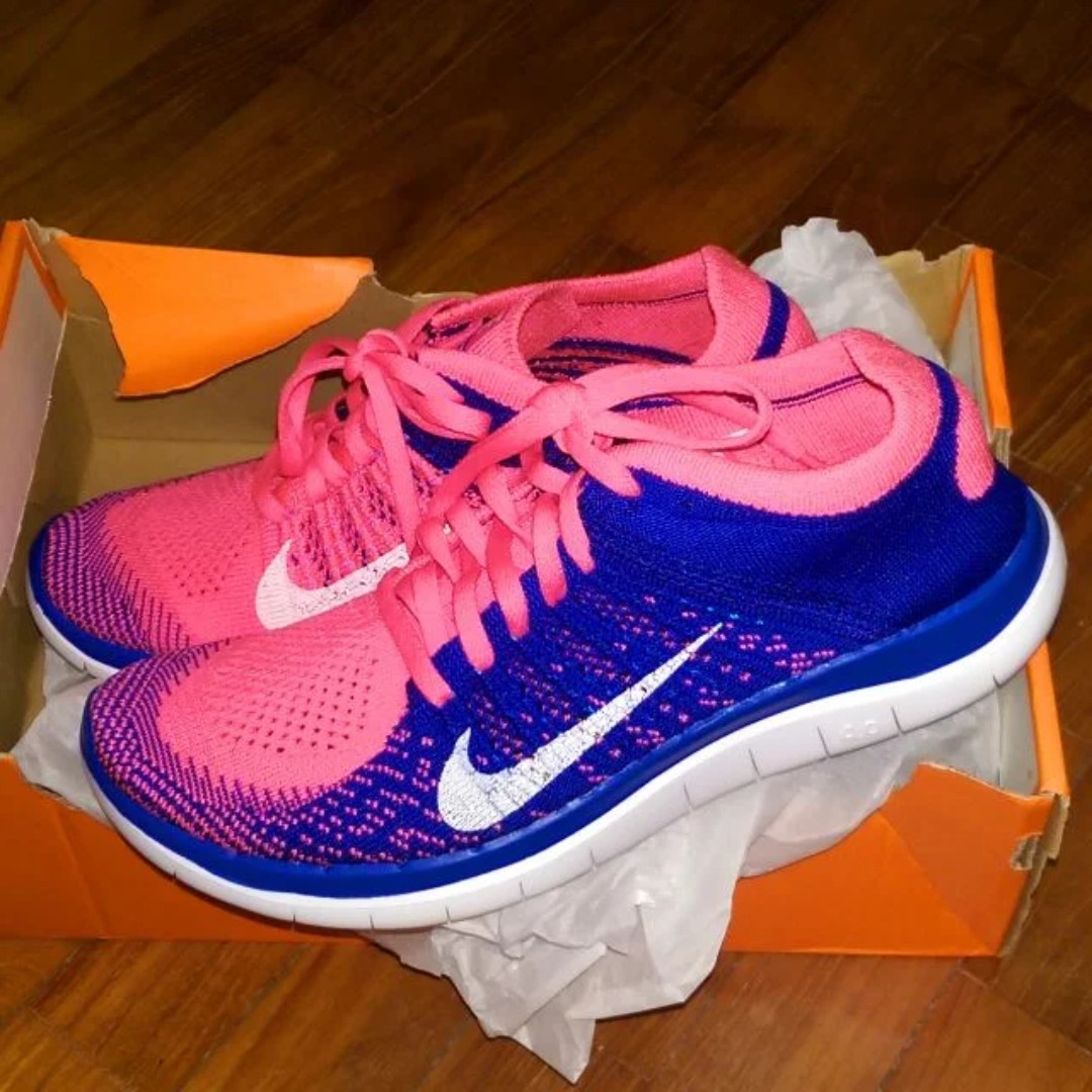 best service 2dd12 4c0d6 Nike Free 4.0 Flyknit Women s Running Shoe (US 6.5, AUTHENTIC), Sports,  Sports Apparel on Carousell