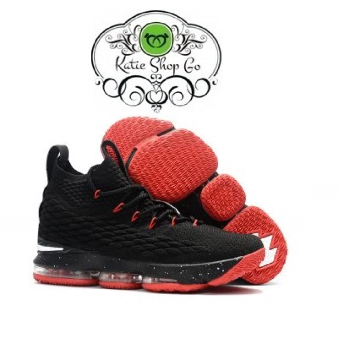 brand new 5bd4f 4a22c NIKE LEBRON 15 BASKETBALL SHOES - LEBRON 15 BLACK RED WHITE