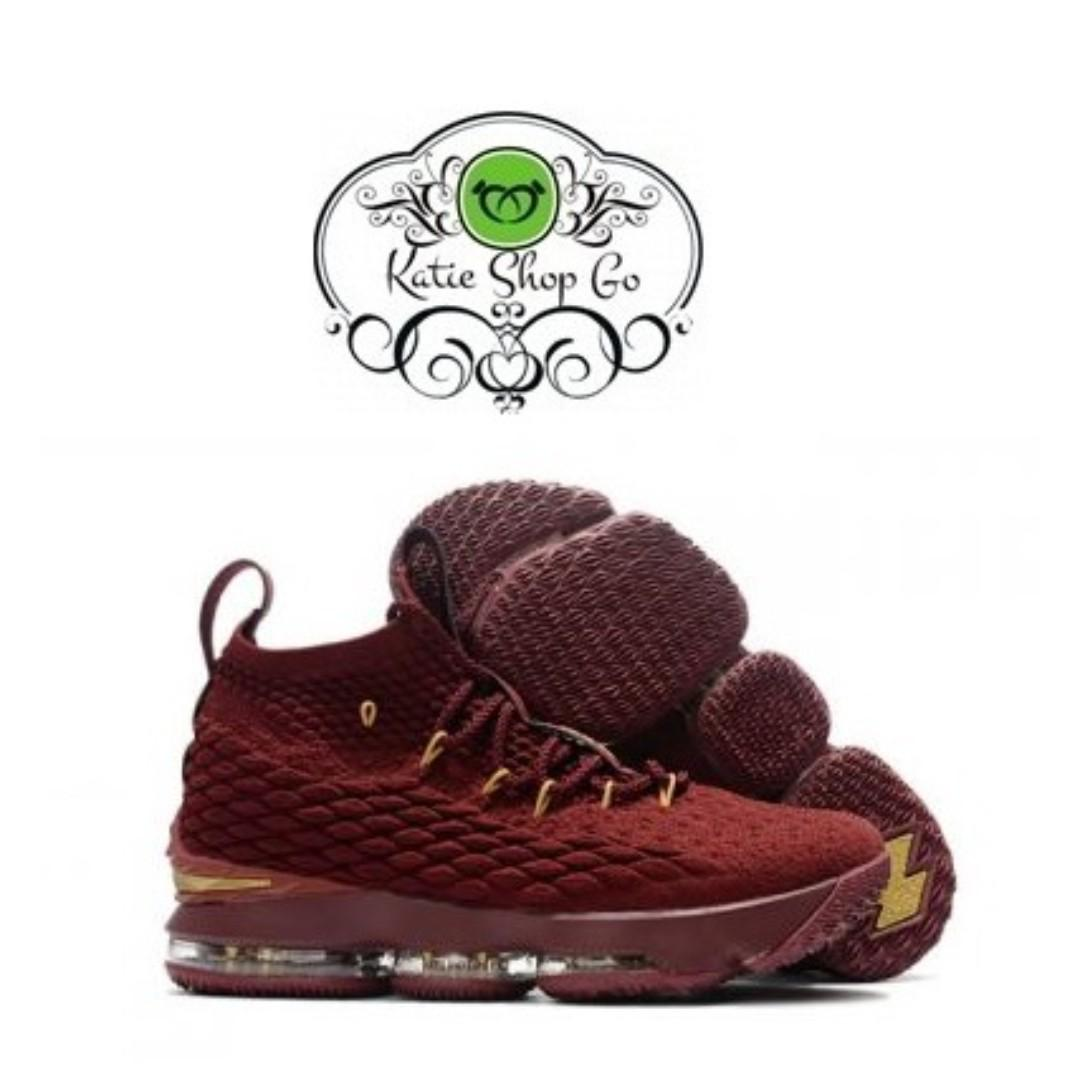 detailed pictures e3532 58d39 NIKE LEBRON 15 BASKETBALL SHOES - LEBRON 15 BURGUNDY GOLD on ...