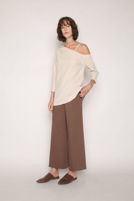 Oak+fort beige blouse XS