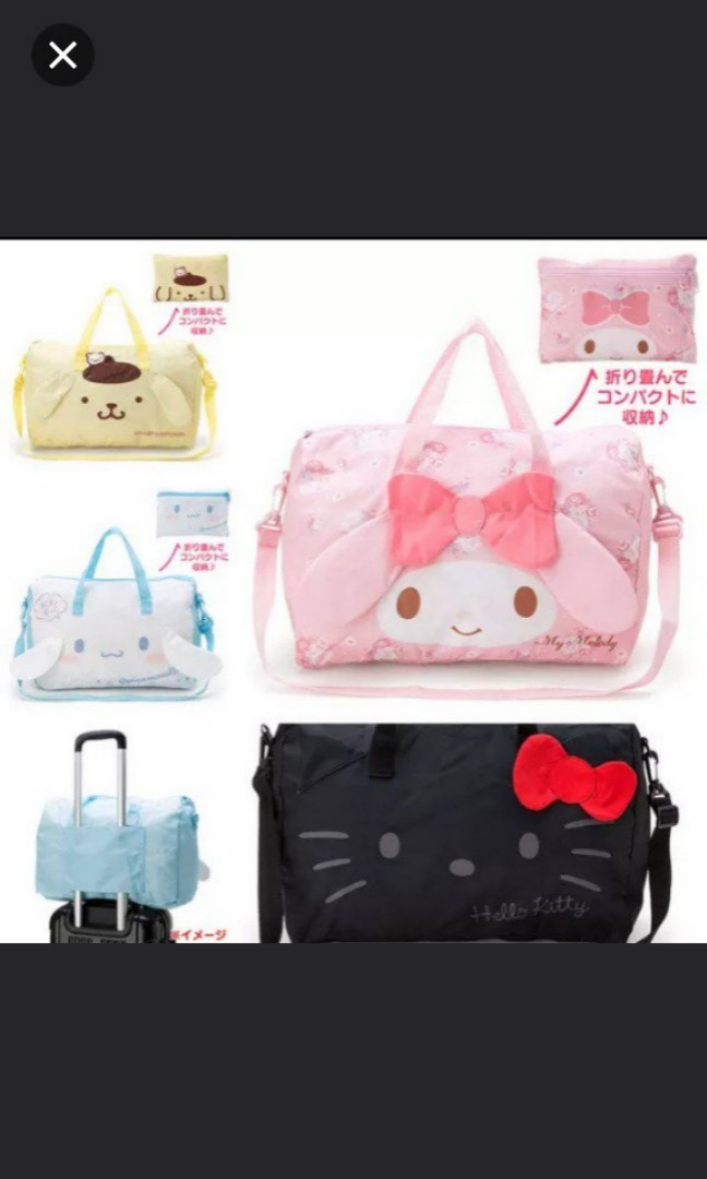 0fe326920 Preorder- Sanrio Light Weight Large Capacity Foldable/Convertible ...