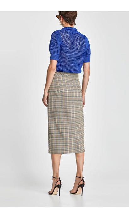 4de49295 Sale* ZARA CHECKED PENCIL SKIRT, Women's Fashion, Clothes, Dresses ...