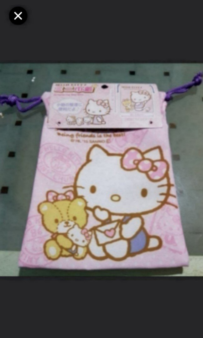 1887f3a955 Sanrio Hello Kitty Mini Drawstring Bag Pouch Organiser