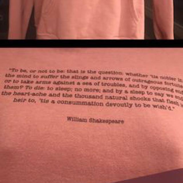 Shakespeare sweater