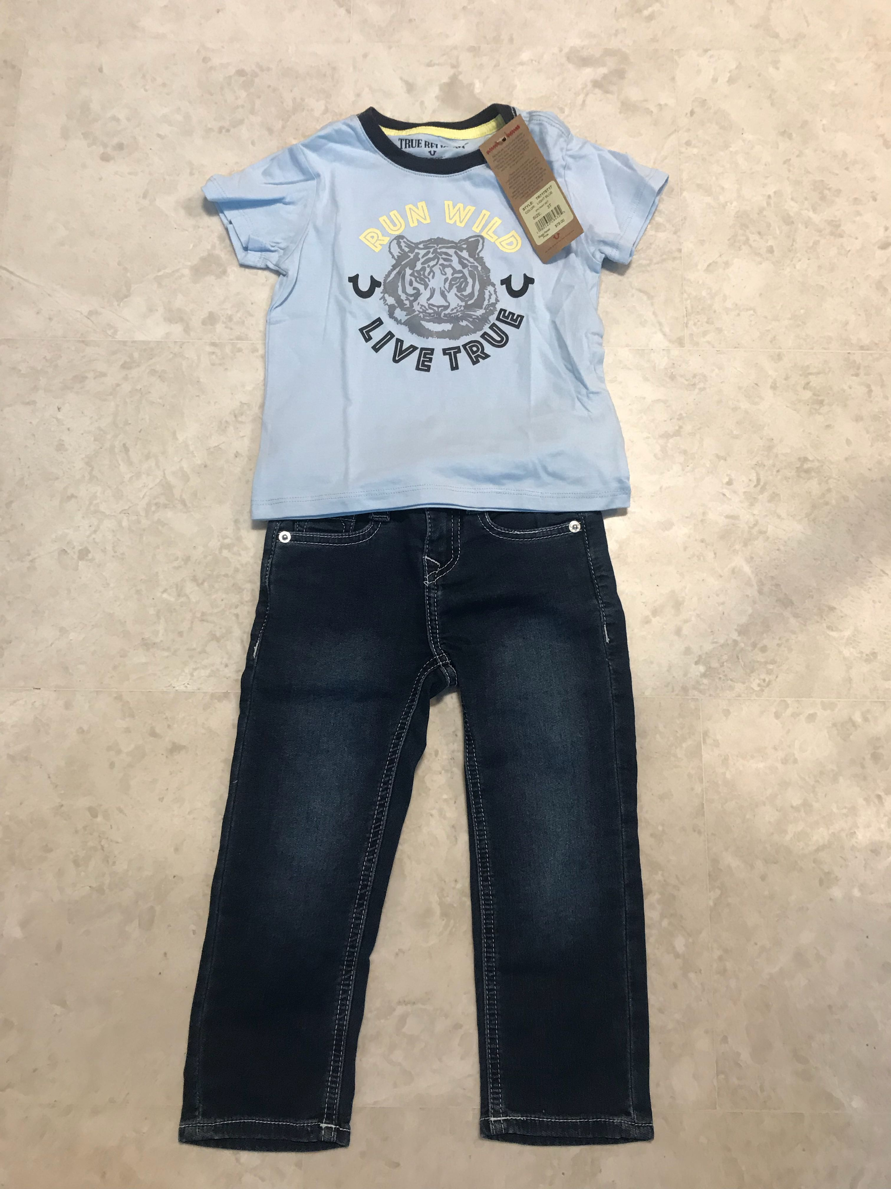 1a61d8d5 True Religion Boys 2 pc set Size 3, Babies & Kids, Boys' Apparel, 1 ...