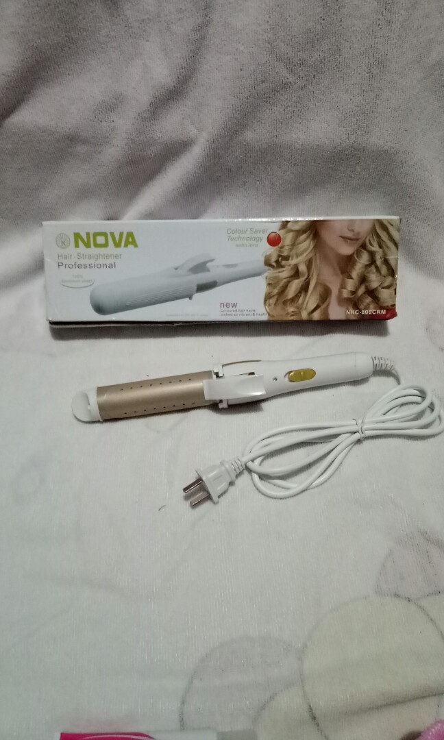 (Used twice for event) Nova 2 in 1 hair straightening & curling iron, Preloved Health & Beauty, Hair Care on Carousell