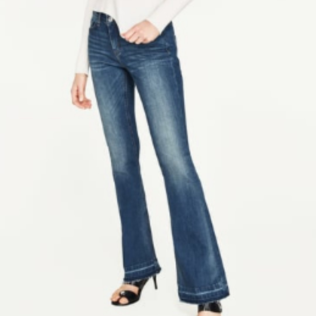 7d34bb18 ZARA The Skinny Flare in Helen Maldives Jeans, Women's Fashion, Clothes,  Pants, Jeans & Shorts on Carousell
