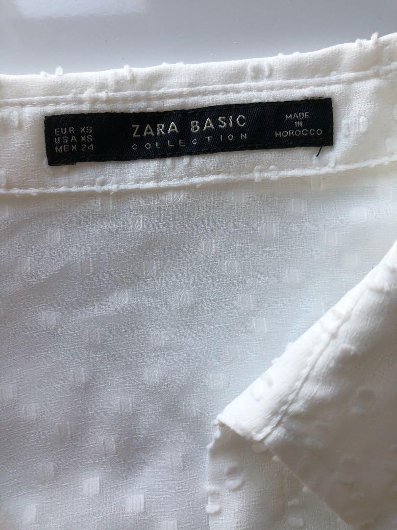 Zara white blouse XS