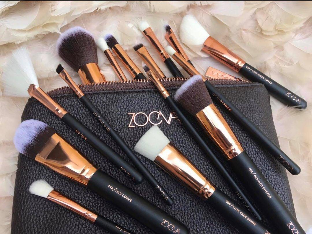Zoeva Brush Set 90 Similar As Original Produk Badan Dan Dark Brown 8 Piece Bursh Bag Kecantikan Makeup Photo