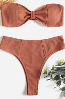 ZAFUL high waisted bikini set