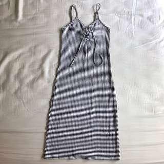 Aeropostale Striped Ribbed Bodycon Midi Dress