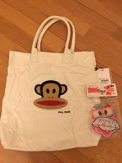 Brand new Paul Frank create-your-face tote bag white