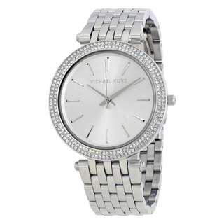 DARCI SILVER DIAL PAVE BEZEL LADIES WATCH MK3190