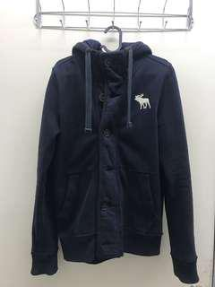Abercrombie & Fitch (A&F) button hoddie