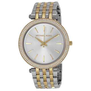 DARCI SILVER DIAL TWO-TONE LADIES WATCH MK3215