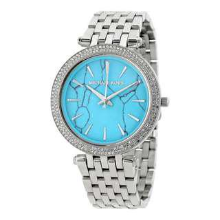DARCI TURQUOISE DIAL STAINLESS STEEL LADIES WATCH MK3403