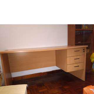 Study desk w 3 drawers,1 with lock. Spacious.Good condition.