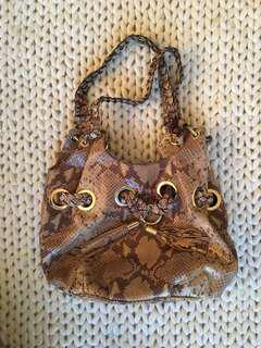 MK Michael Kors snake embossed leather bag