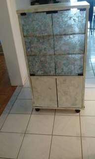 Glass n wooden cabinet