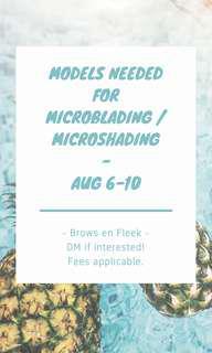 Microshading/microblading Model Offer