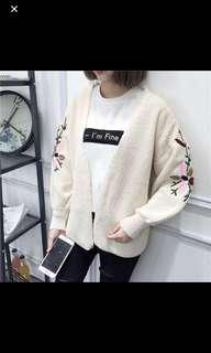 Embroidered Knitted Cardigan