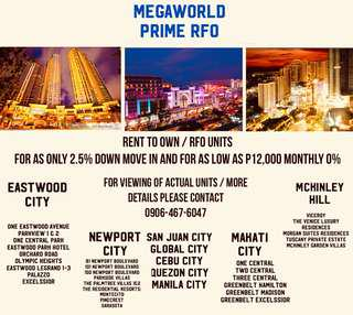 RENT TO OWN UNITS